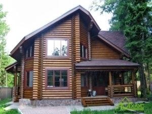 Двухэтажный дом из ОЦБ по с эркерным пространством