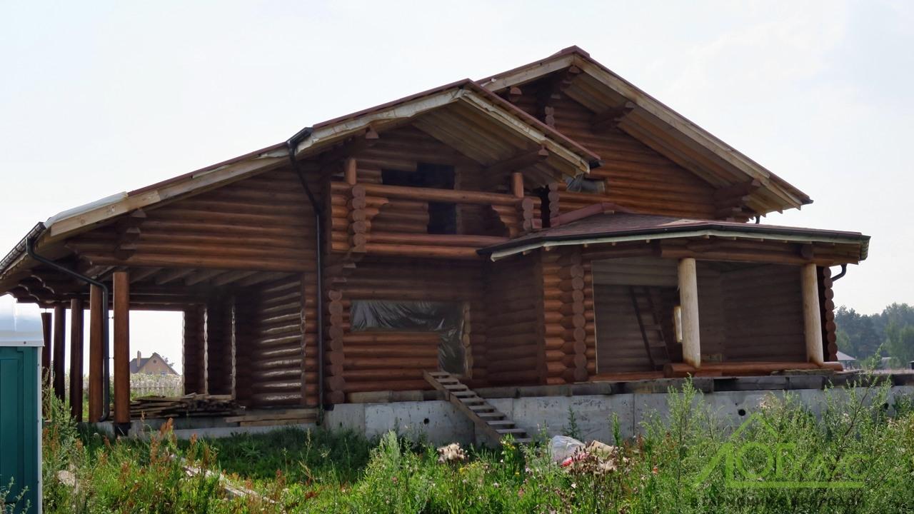 Наружная отделка бревенчатого дома