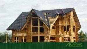 Монтаж кровли на деревянный дом