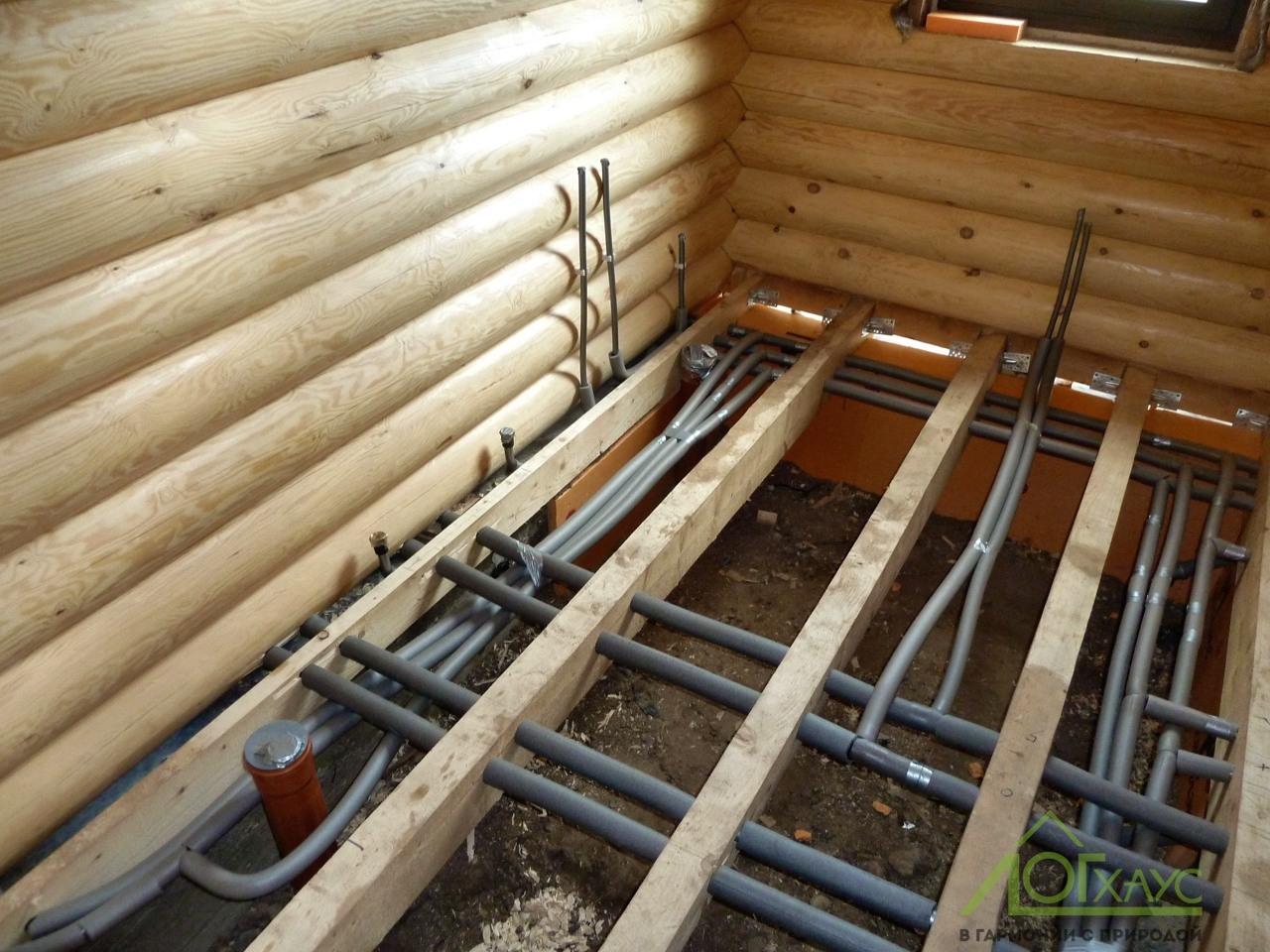 Монтаж отопления, водоснабжения и канализации в загородном доме
