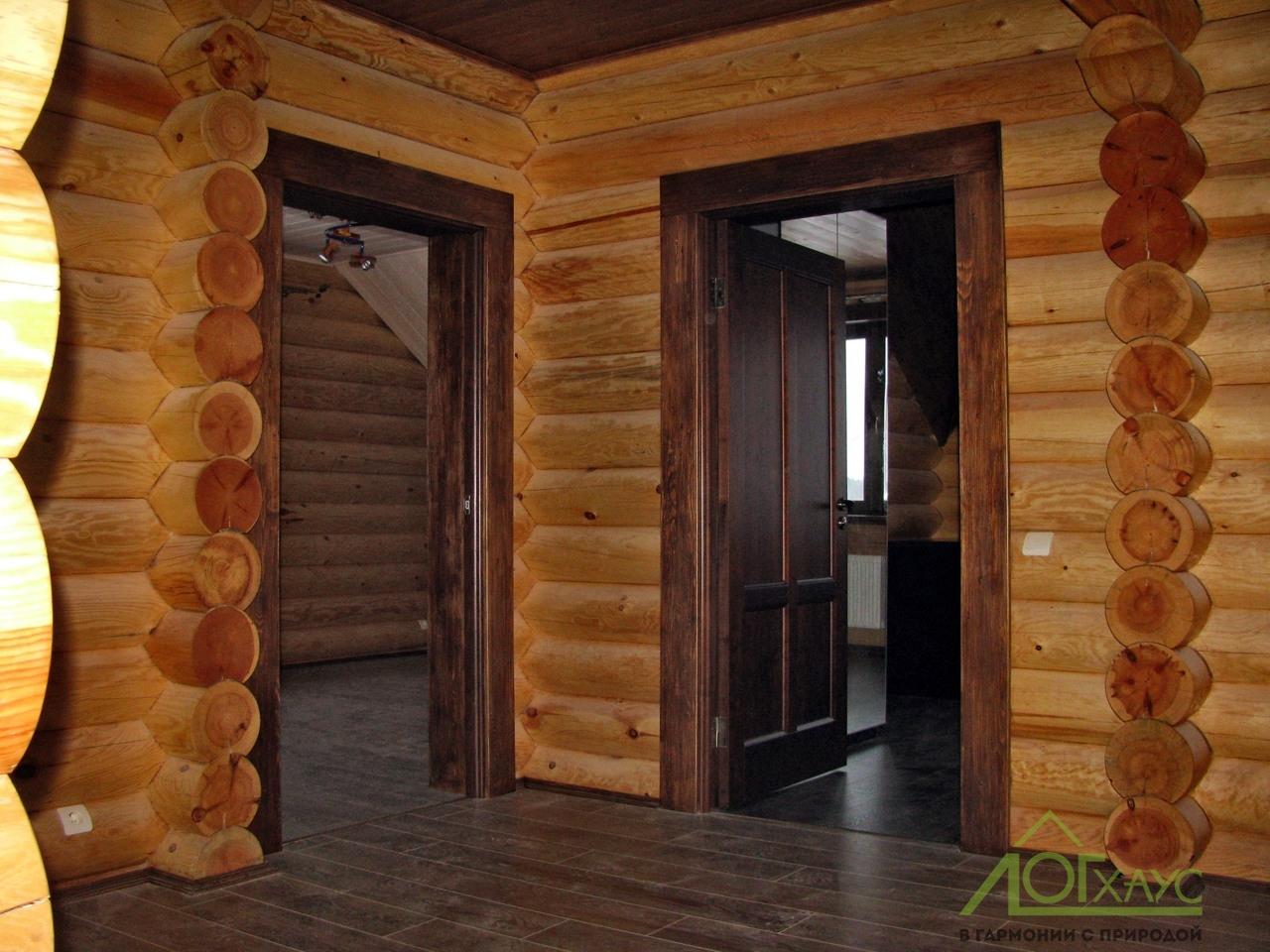 Внутренняя отделка дома из бревен
