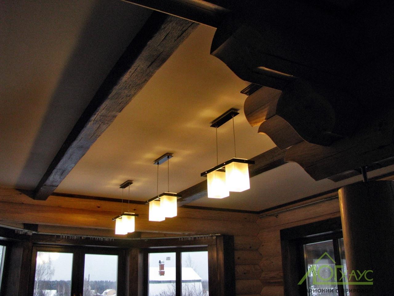 Освещение и электрика в доме из ОЦБ