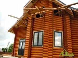 Шлифовка и покраска дома из бруса