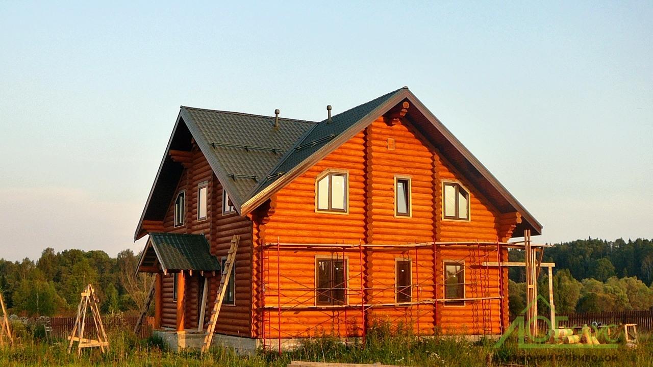 Оцилиндрованный дом по проекту