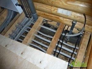 Монтаж инженерии в полу
