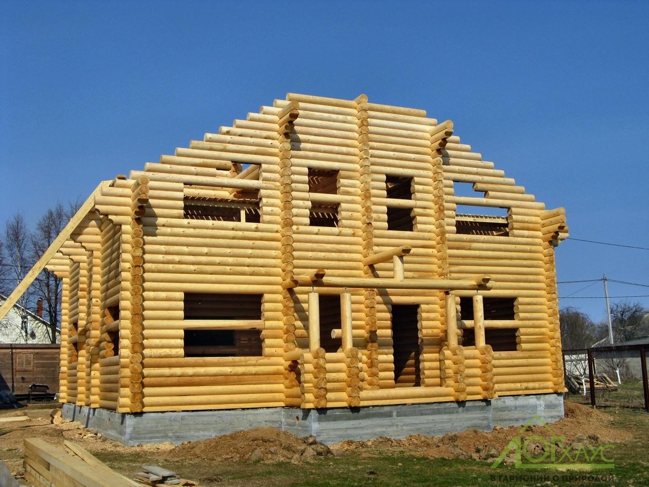 Дом из ОЦБ в процессе строительства