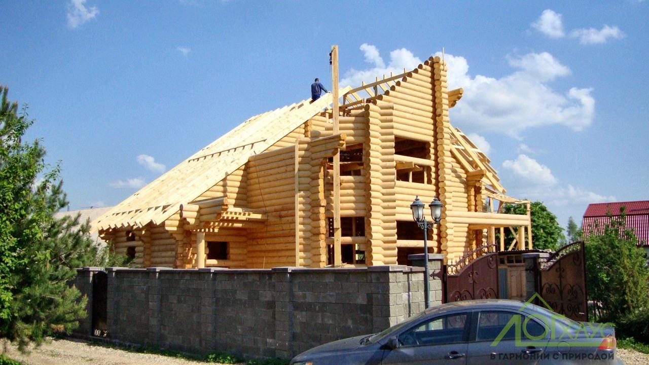 Строительство дома из архангельского бревна