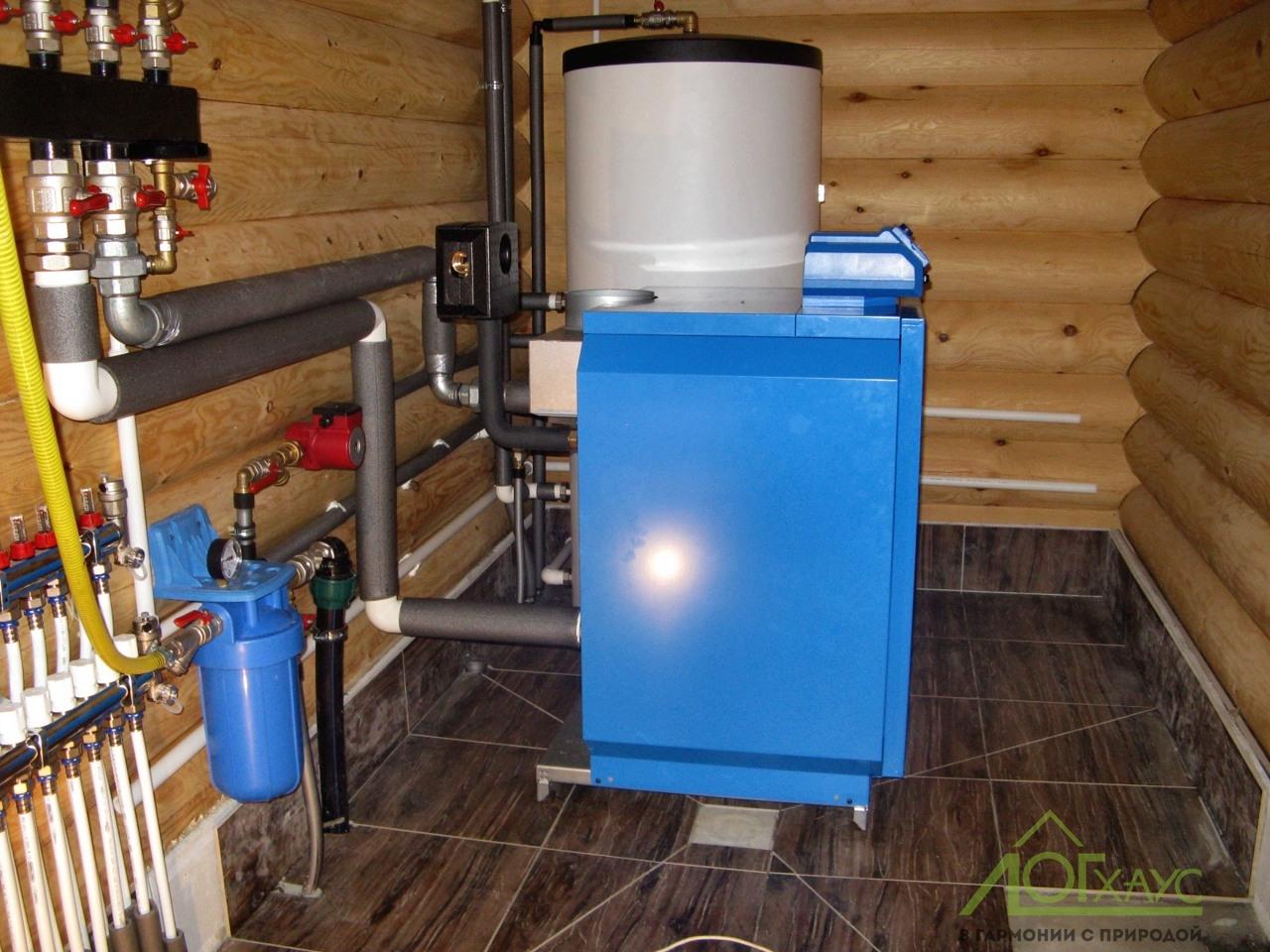 Отопление по проекту для дома из бревна