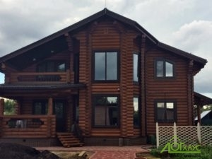 Реально построенный дом из бревна по проекту №285