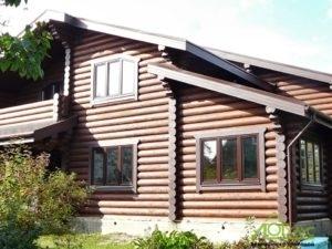 Дом из бревна для большой семьи