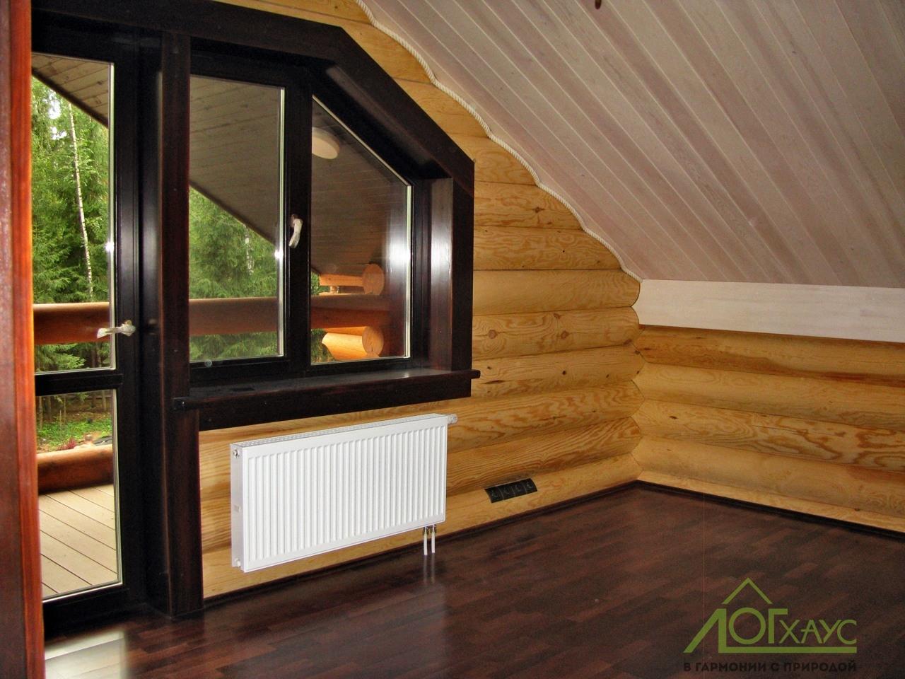 Чистовая отделка мансардного этажа деревянного дома