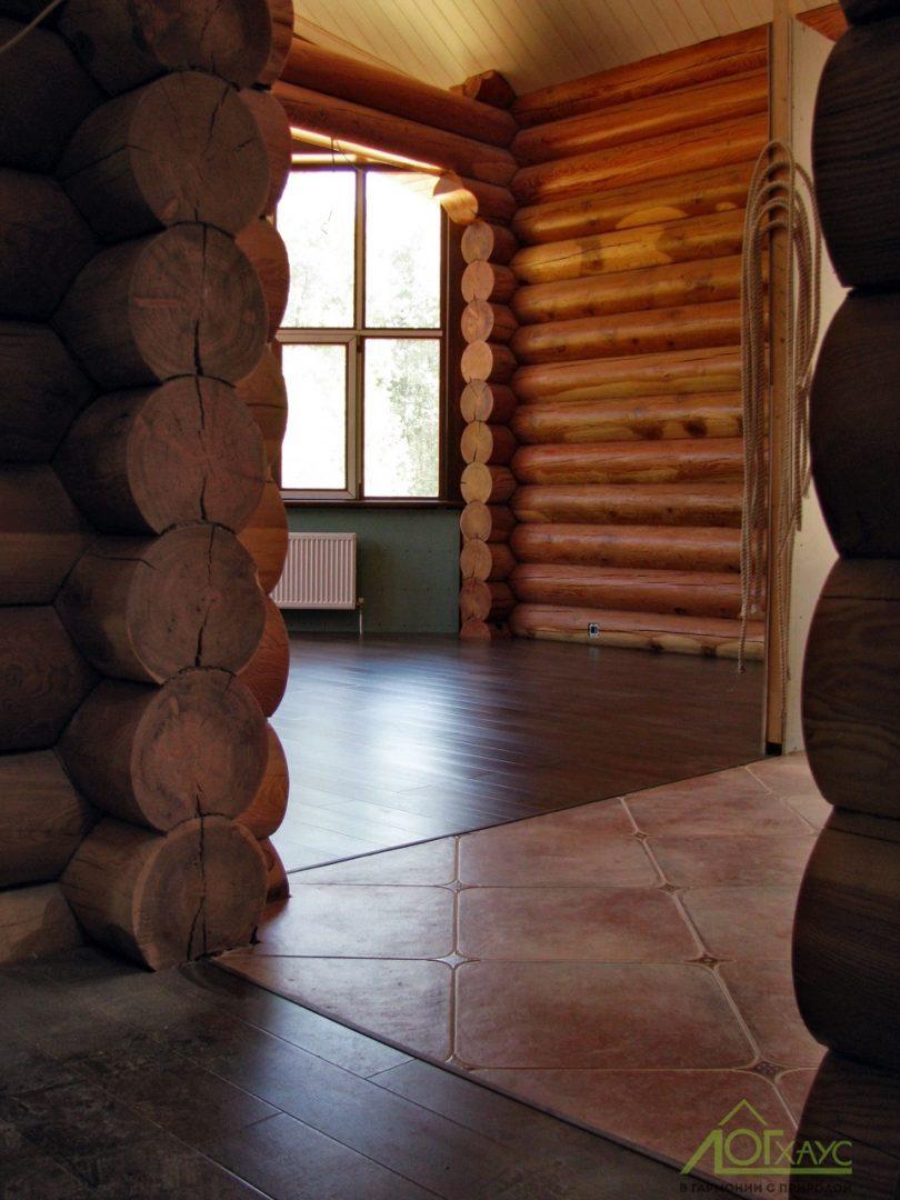 Отделка бревенчатого дома внутри