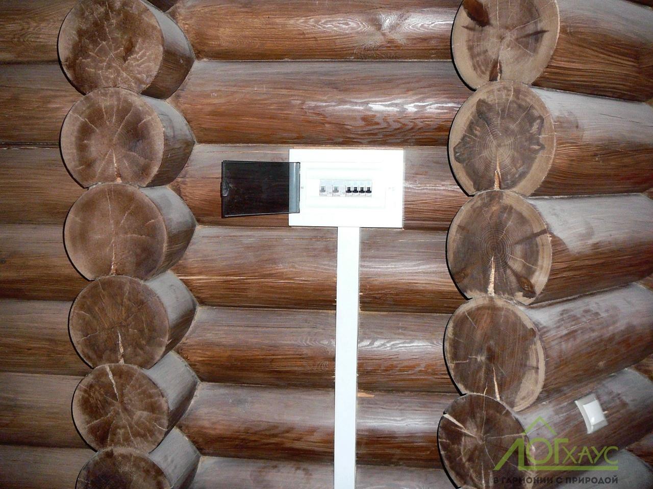 Монтаж электрики в деревянном дом