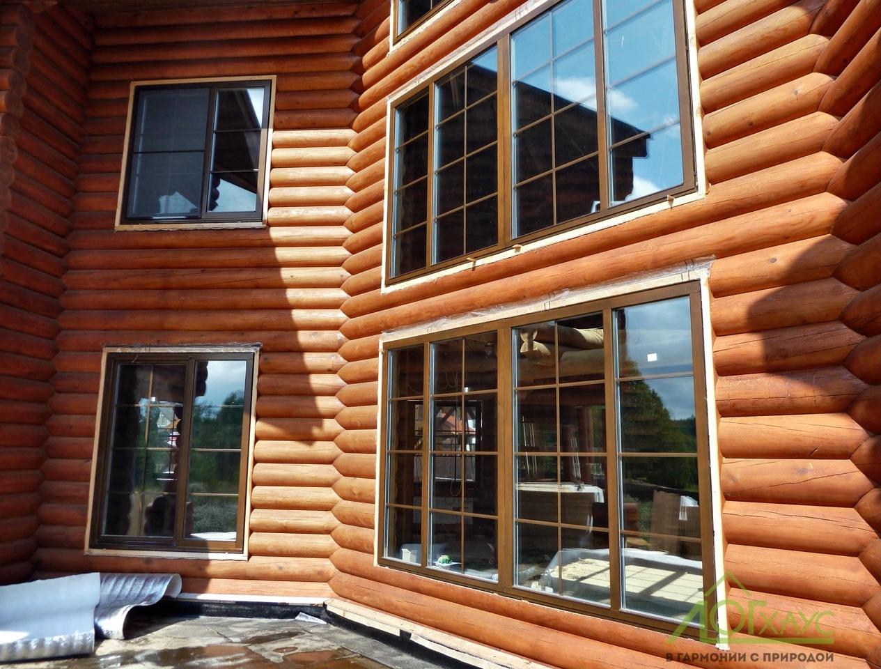 Установка деревянных окон в бревенчатый сруб