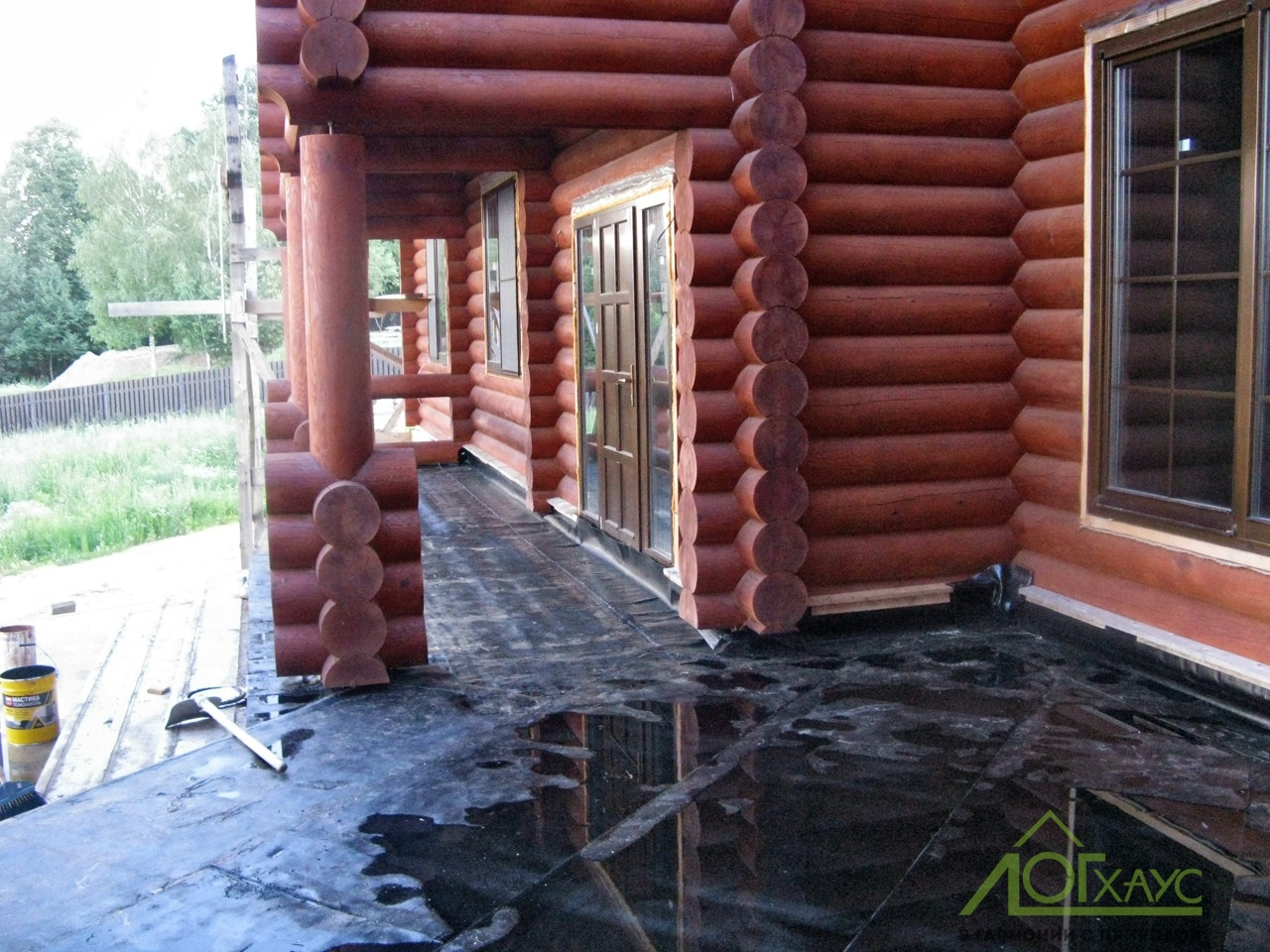 Отделка деревянного дома из бревна