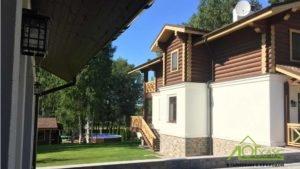 Дом комбинированный из бревна