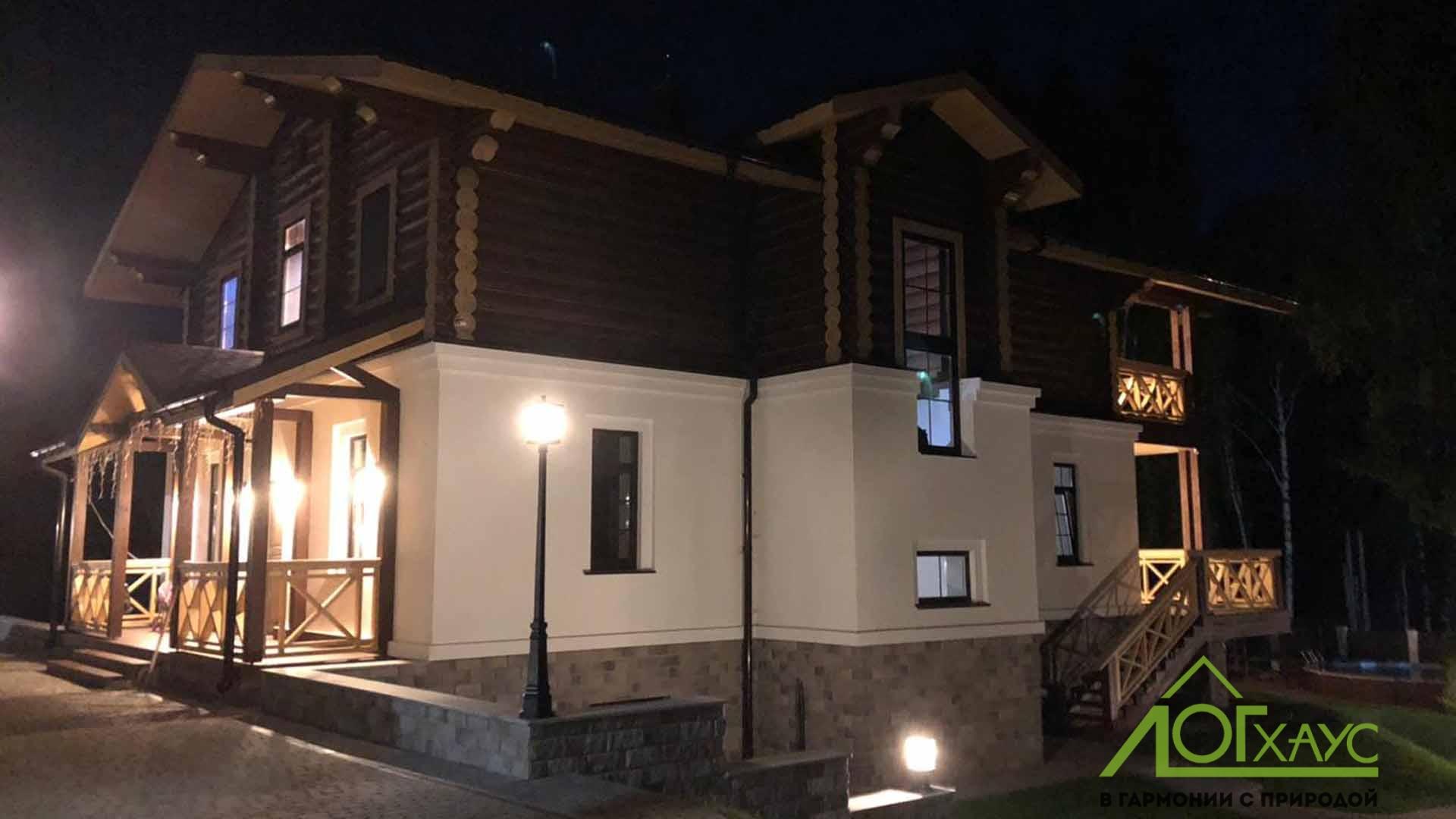 Комбинированный дом со вторым бревенчатым этажом