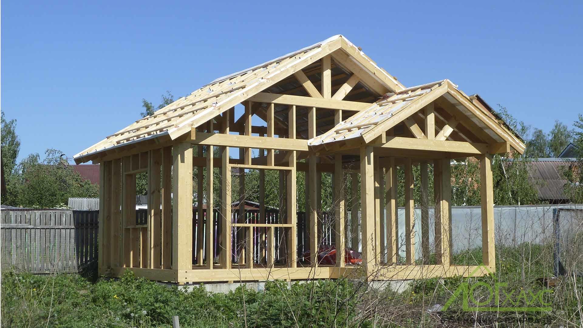 Строительство каркаса дома по технологии фахверк