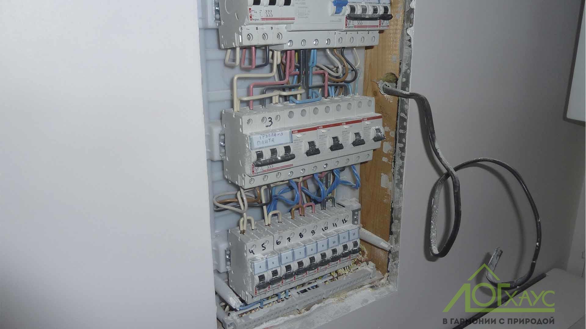 Монтаж электрического щита в фахверковом доме