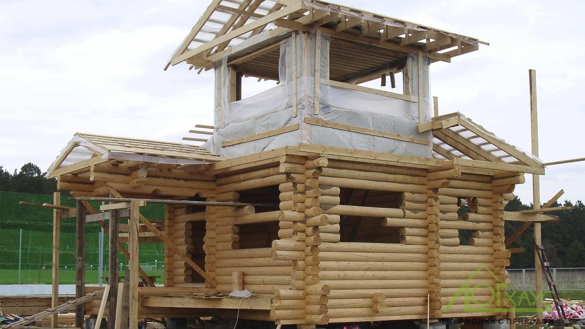 Сборка конструктива домика охраны