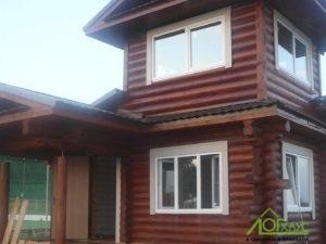 Дом охраны из бревна и каркаса