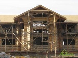 Рубленный дом из бревна 40го диаметра