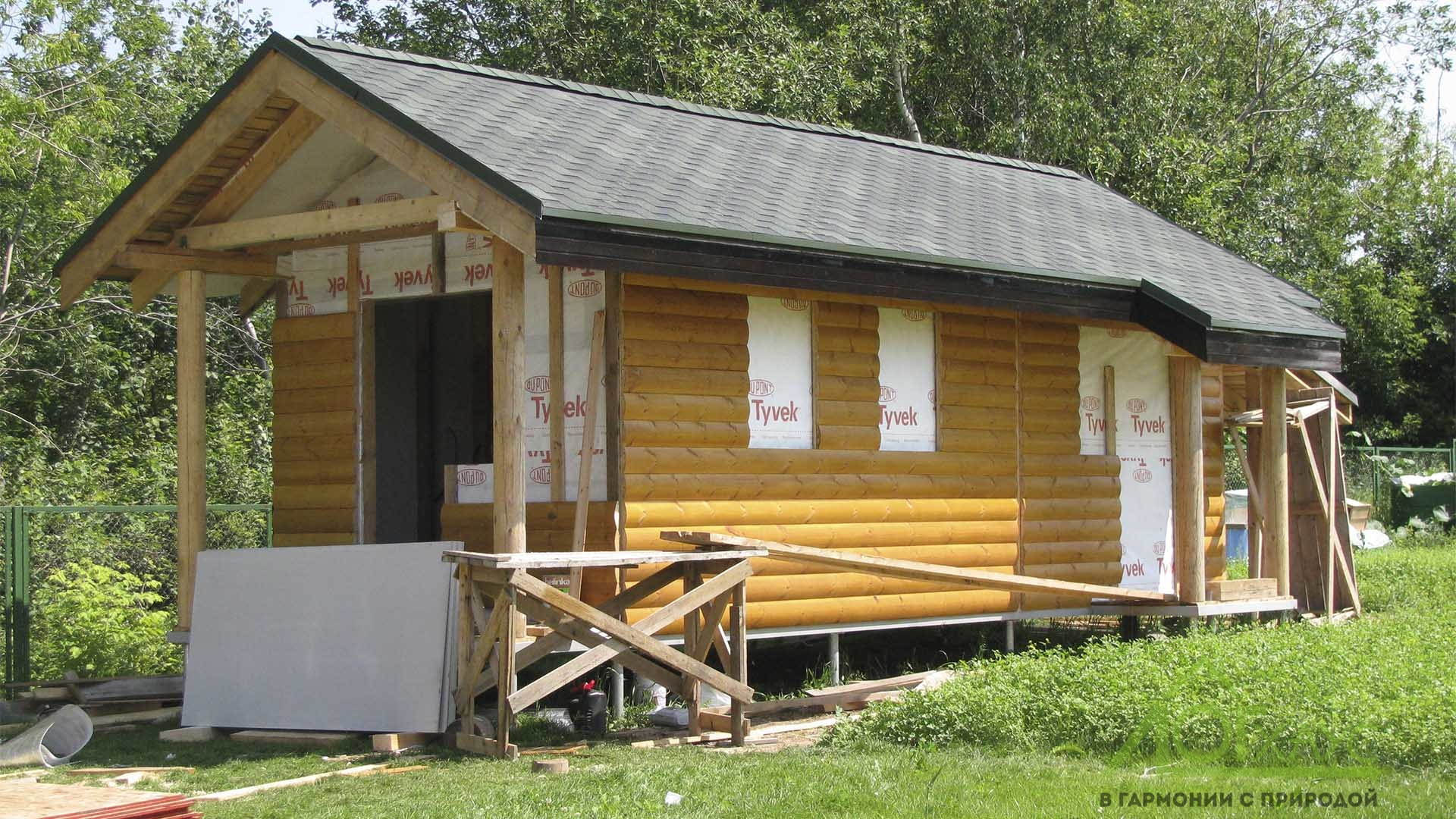 Дом каркасный с летней кухней