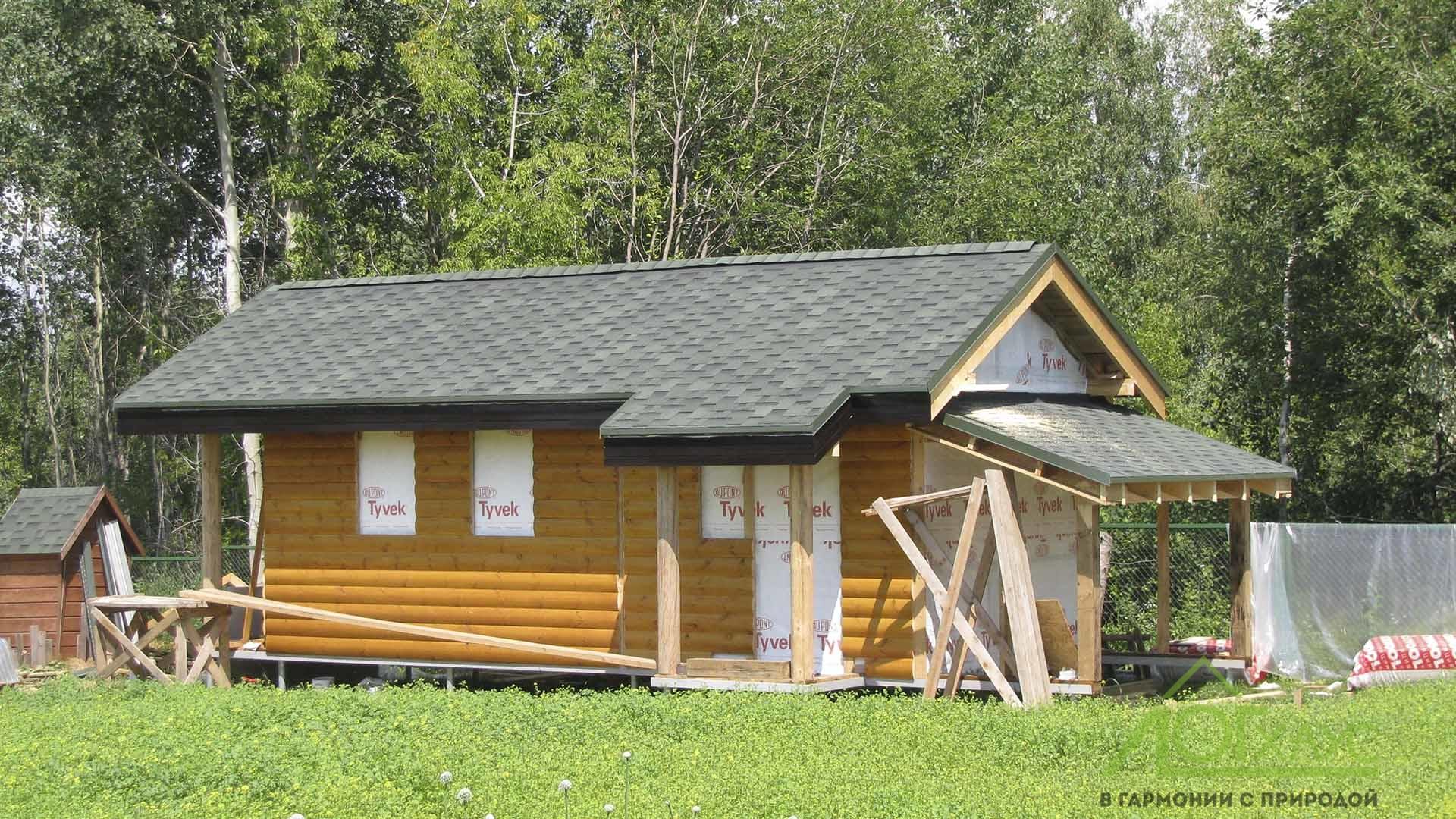 Домик каркасный с летней кухней