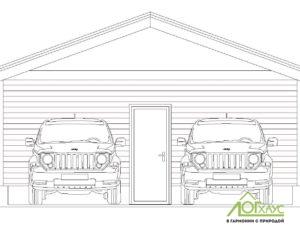 Визуализация гаража на 2 машины
