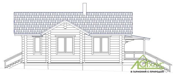 Эскиз рубленного дома