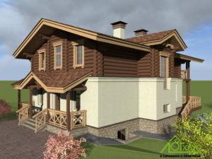 Визуализация комбинированного дома