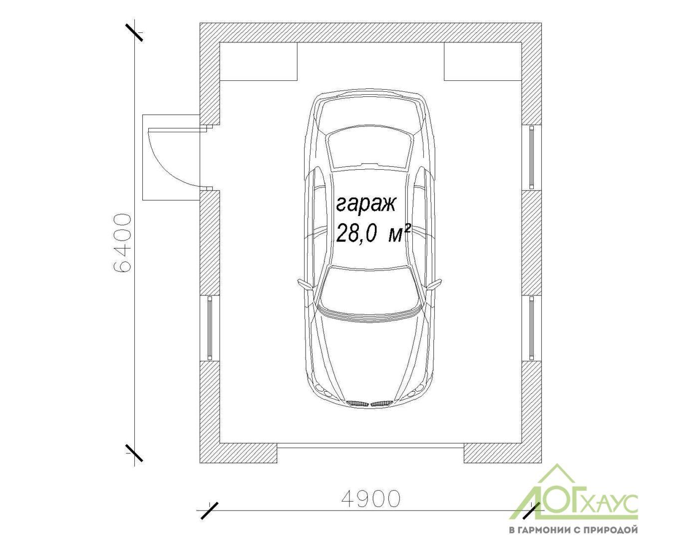 План гаража из пеноблоков