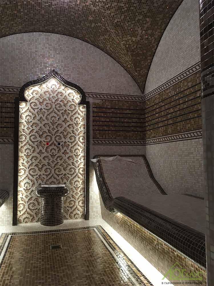 Хамам в бане из клееного бруса