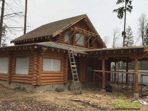 Рубленный дом-баня 139
