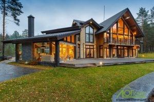 построить дом из оцилиндрованного бревна